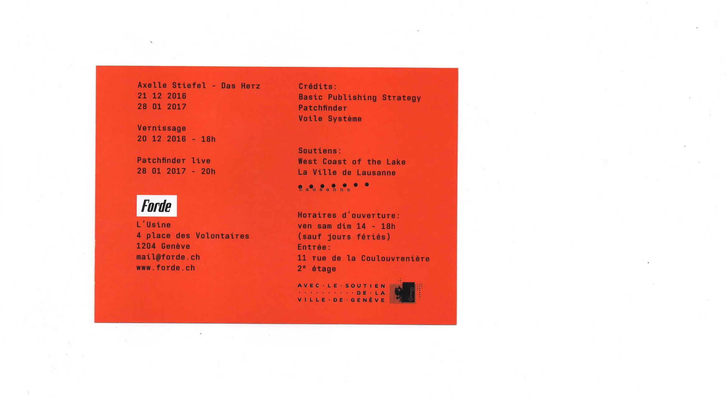forde - flyer - Axelle Stiefel – Das Herz