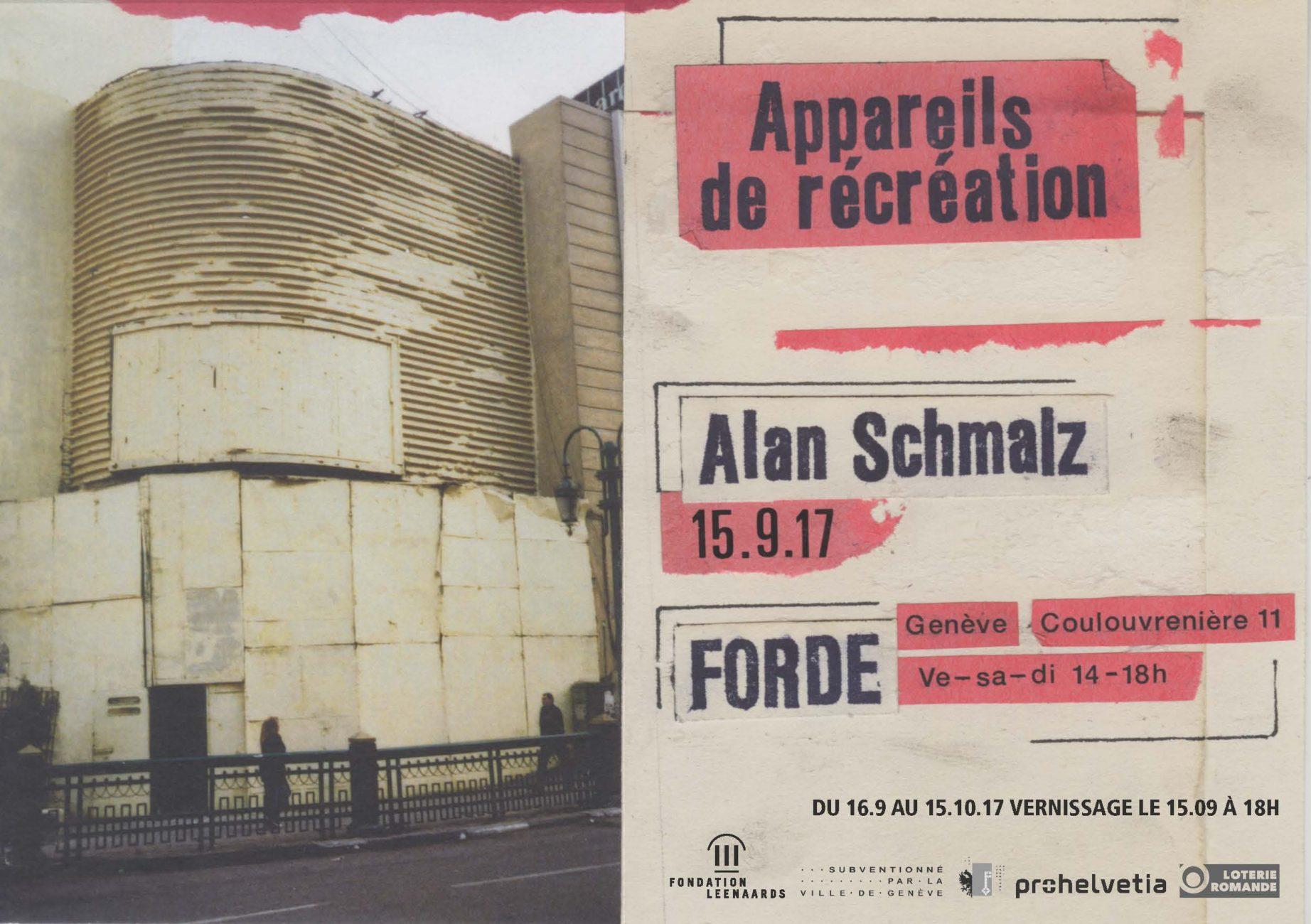 forde - flyer - Alan Schmalz – Appareils de récréation