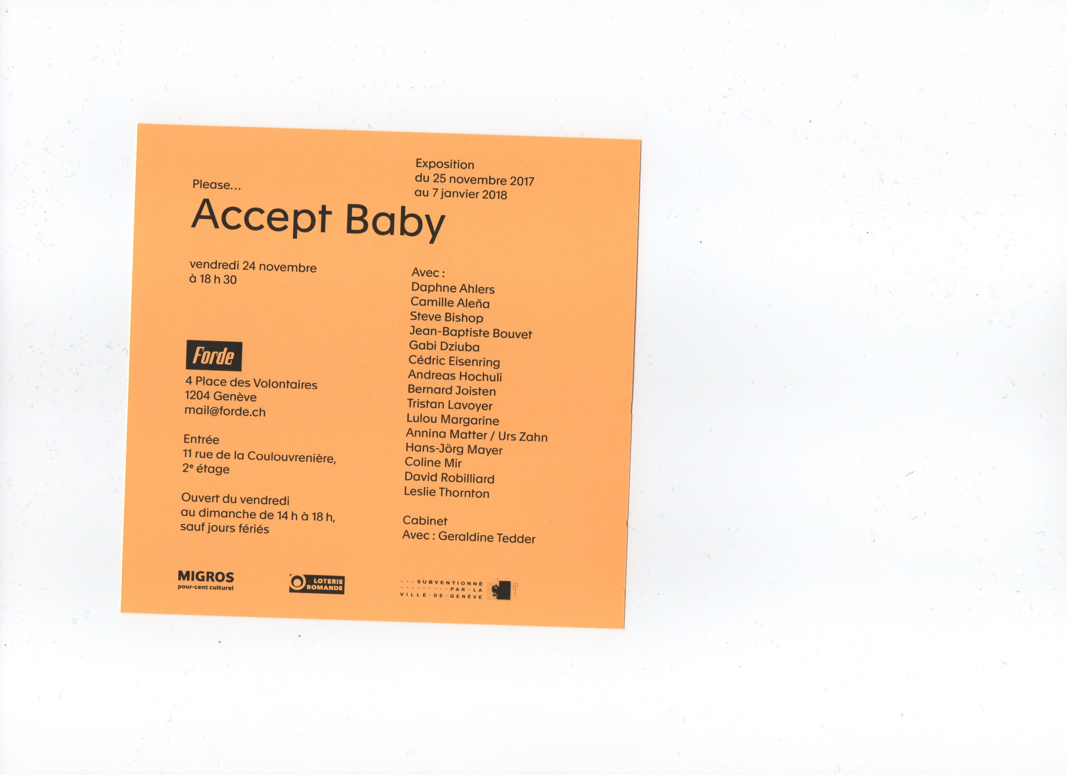 forde - flyer - Accept Baby
